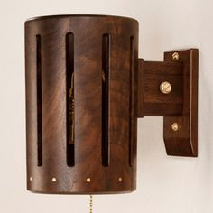 Woodrum sconce, from Roman and Williams' new line of wood and leather furnishings, for MatterMade