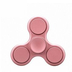 Beautymei Matte Tri-Fidget Hand Spinner Triangle Classic Style Spinner for ADHD, ADD, Anxiety, Stress-Relief, Focusing Rose Gold