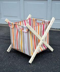 Tutorial for homemade laundry basket