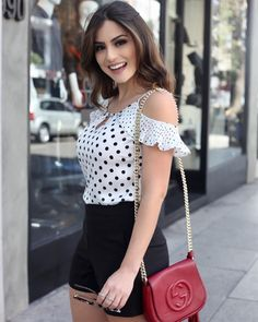 Adorable polka dot top