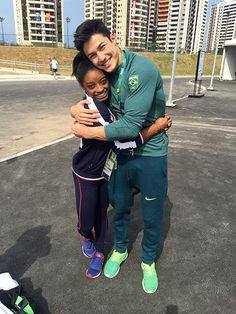 Simone Biles Has a Funny Social Media Love Fest with Her 'Brazilian Boyfriend' Arthur Nory During the Olympics http://www.people.com/people/package/article/0,,20996464_21023047,00.html
