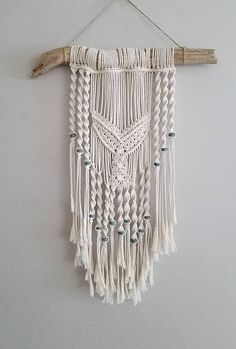 Macramé Whale Tail Wall Hanging