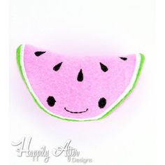 Watermelon Stuffie Embroidery Design