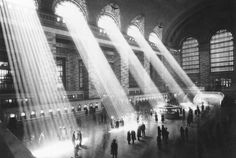Abe's Mom — Sunlight streams through the windows in the concourse at Grand Central Terminal in New York City in 1954.