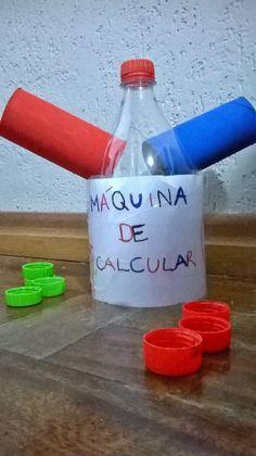 Practica con los niños las operaciones de suma y resta, creando con una botella una interesante máquina de calcular.
