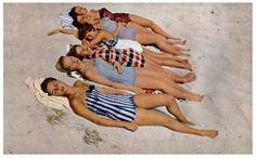 """Bathing Beauties"" Magazine Photo by Frank Ross, 1949 #Ogunquit Beach"