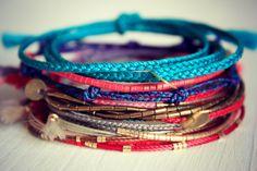 Friendship bracelet stack #riemke #etsy #summer #boho #braided #bracelets