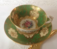 Crown Staffordshire China Tea Cup & Saucer  by TheEclecticAvenue