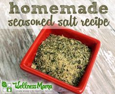 This seasoned salt is a great addition to chicken, beef, soups and stews, and eggs for breakfast. It is simple and inexpensive to make and has to MSG.