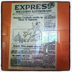 """Pierwszy numer (2.08.1923) """"Expressu Ilustrowanego"""", największej łódzkiej gazety"""
