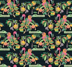 A nice lil Floridian floral for you all, complete with flamingos and gators.Llew Mejia