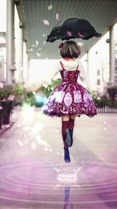 (ⒾฺωฺⒾฺ✿ฺ)【Day Dream Lolita】【floating in the air】