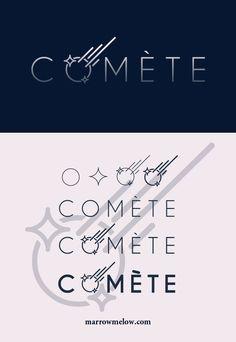 Comète #logo #branding #identity