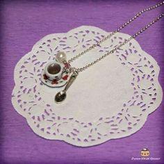 A cup of tea :) Cute necklace