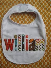 Image result for machine embroidered bibs diy