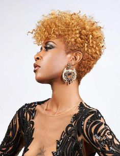 All Piled Up - Curly Hair Styles That Are Perfect for Second-Day Wear - The Trending Hairstyle Natural Hair Short Cuts, Short Hair Cuts For Women, Short Hairstyles For Women, Natural Hair Styles, Black Hairstyles, Trendy Hairstyles, Tapered Natural Hairstyles, Natural Hair Twa, Kinky Curly Hair