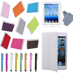 Apple Ipad Mini Case Smart Cover, FREE High Quality Screen Protector,Stylus Pen Free Ship USA USPS w/Track, +Stylus/Film Smart Cover Buy It Now $6.39