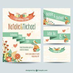Casamento printables design floral livre
