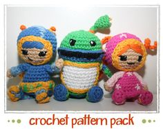 Milli Geo & Bot  Team Umizoomi  Crochet Pattern by patternsbysteph. Crazy expensive just for a pattern!!!!