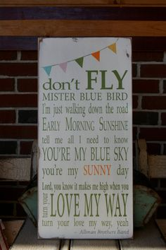 Blue Sky - Allman Brothers sign