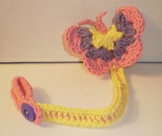 Pacifier - Binky Keeper - Clip - Butterfly - Hand Crafted. $10.00, via Etsy.