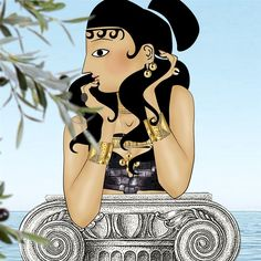 Lula: Goddess Athena in Elena Votsi