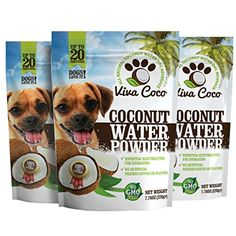 Viva Coco All-Natural Coconut Water Dog Beverage - 3 Pack ** Want additional info? Click on the image. (This is an affiliate link) #HealthSupplies