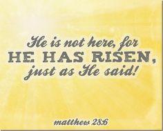 Matthew 28:6