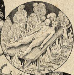 """Michael Maier - """"La séparation des androgynes par le feu""""."""