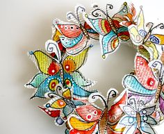 Melissa B has a new shop, you can buy these butterflies...I just did, I can't wait to make this!