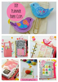 DIY Planner Paper Clips & Pretty Planner Ideas There's something about a pretty planner that makes my life so much better! I'm all for being organized and not forgetting to pick up the milk from the s