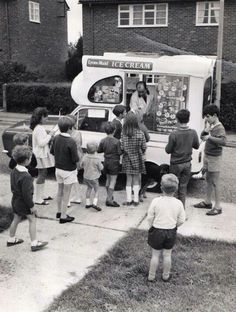 The ice cream van / Would run from street to street trying to find it !