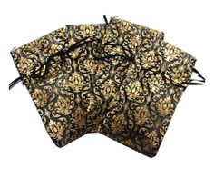 24 Jewelry Damask Sheer Organza Drawstring Pouch Bags by picostore, $7.00