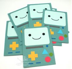 Stampin' Up! Stamping T! - BMO Adventure Time Invitations