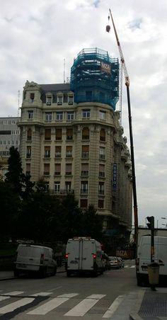 Hormigonando nueva cúpula del Edificio Barrié