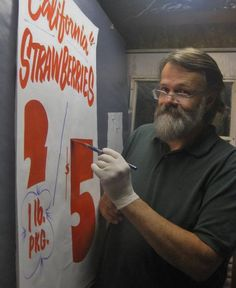 Ken's Dad lettering by hand...
