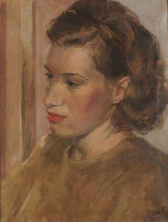 Daphne Charlton by Anthony Devas oil on canvas