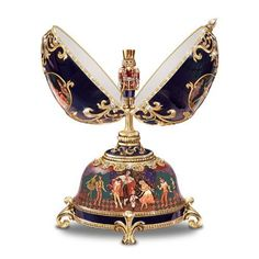 Russian Nutcracker Musical Egg #Faberge  #Gold  #Enamel  #Russian  #ArdleighElliott  #Collectibles  #Kamisco