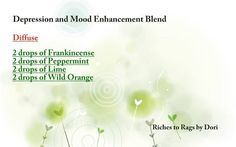 Depression & Mood Enhancement Blend for diffuser. Credit: Riches to Rags by Dori