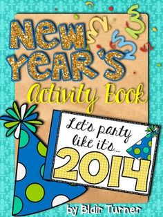 {FREE!} New Year's Activity Book - perfect way to ring in the new year with your kiddos!