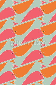 Whales Come To Light Seamless Vector Pattern by Shazia Ll at patterndesigns.com