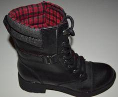 40$ - Ladies K9 Rocketdog Turner Fashion Lace UP Black Combat Boots 6 5 7 7 5 8 5 | eBay