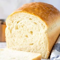 This White Bread recipe is a classic you'll want to keep on hand. So light, fluffy and incredibly soft. Everyone will think it came right from the bakery! Loaf Recipes, Bread Machine Recipes, Easy Bread Recipes, Banana Bread Recipes, Gourmet Recipes, Cooking Recipes, Sliced Bread Recipes, Healthy Recipes, Tortillas