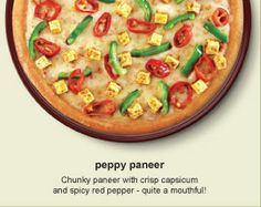 Veg 2: Peppy Paneer Pizza, Price - Order Pizza online at Dominos India  http://pizzaonline.dominos.co.in