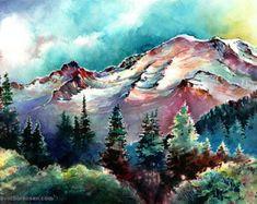 Coastal Colors Lighthouse Watercolor by MichaelDavidSorensen