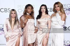 Recording artists Ally Brooke, Normani Kordei, Lauren Jauregui, and Dinah Jane of music group Fifth Harmony attend the People's Choice Awards 2017 at Microsoft Theater on January 18, 2017 in Los Angeles, California.