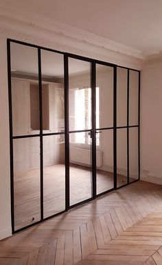 Porte vitrée industrielle pour chambre