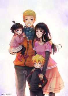 Naruto, Hinata Himawari e Boruto (NaruHina) Naruto Uzumaki, Anime Naruto, Naruhina, Naruto Und Sasuke, Naruto Team 7, Naruto Cute, Sakura And Sasuke, Familia Uzumaki, Familia Anime
