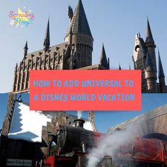 How to Add a Day at Universal to Your Disney World Vacation Disney World Hotels, Disney Destinations, Disney World Vacation, Disney Cruise Line, Disney Vacations, Walt Disney World, Florida Resorts, Travel With Kids, Family Travel
