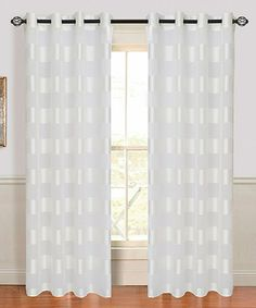 Loving this White Sofia Curtain Panel on #zulily! #zulilyfinds